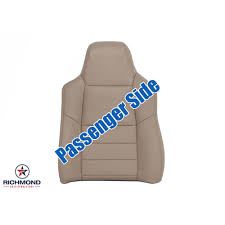 2002 2003 ford f 250 lariat perforated leather seat cover passenger lean back tan