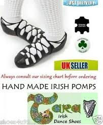 Details About Irish Dancing Pomps Leather Pumps Soft Shoes Tara Black Suede Sole Cushioned