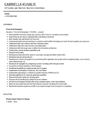 Front End Developer Resume Sample Front End Developer Resume