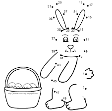 Easter Colouring Pages And Dot To