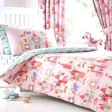 fairy bedding set kids pink castle and unicorns duvet tail crib south africa tale