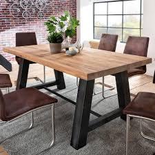 Moderne Stühle Zu Altem Tisch Esstisch Eiche Metall Elegant