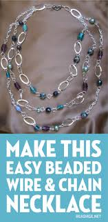 make easy wire chain necklace