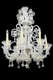 antique italian murano eight arm chandelier