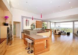 Resplendent Mini Pendant Lights Over Kitchen Island And Small Recessed  Ceiling Lights Also Wall Mounted Kitchen