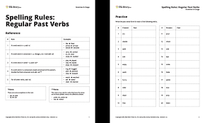 Spelling Rules For Regular Past Verbs Esl Library