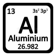 Periodic Table Element Aluminium Icon. Stock Illustration - Image ...