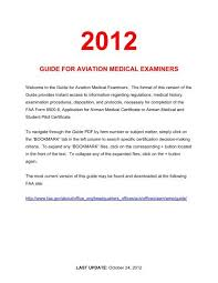 Guide For Aviation Medical Examiners Faa
