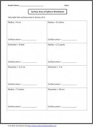 Grade 6th Grade Math Worksheets | Surface Area Of Sphere Worksheet ...