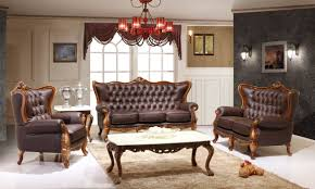 red leather living room furniture. Victorian Living Room Design With Dark Brown Leather Sofa And White Marble Top Table Plus Red Hanging Lamp Wall Interior Color Decor Black Furniture