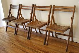 set of 4 antique slatted folding chairs picked vintage regarding wood folding chair history of wood