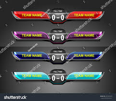 Scoreboard Template Scoreboard Template Sport Game Soccer Football Stock Vector 16