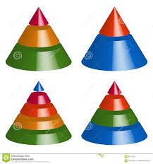 Pyramid Cone Charts 3 2 5 4 Levels Multilevel Triangle 3d