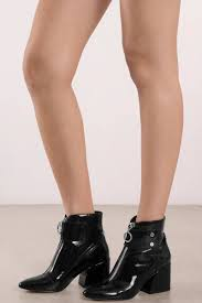dolce vita dolce vita varra black patent leather ankle booties