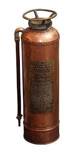 fire safety vintage copper fire extinguisher