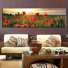 large canvas painting large canvas painting the flower fields canvas wall art picture wall art home
