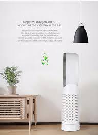 tenfifteen desktop oscillating air purifier triple purification negative oxygen ion function