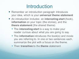 the giver fahrenheit pleasantville writing task what is the  introduction remember an introduction paragraph introduces your idea which is your universal theme statement an