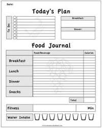 Food And Exercise Diary Printable Workout Journal For Myself To Track My Daily