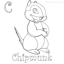 Chipmunk Coloring Pages To Print Coloring Pages For Kids