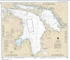 Little Bay De Noc Depth Chart Lake Huron 14860 36 By Noaa Products Nautical Chart