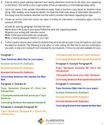 informative writing lesson plan clarendon learning informative writing worksheet