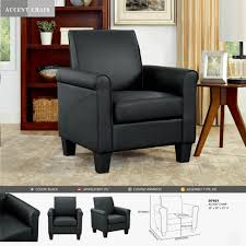 accent chairs for living room armless black leather modern contemporary sleek for