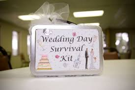 emble a tote bag plete with the wedding day necessities and the bride will lade you with tons of appreciation for this well thought out gift