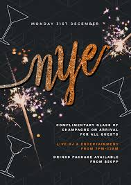 new year s template customizable new years eve poster templates diy with