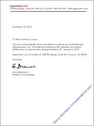 Business Letter For Employment Verification Vancitysounds Com