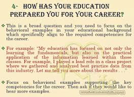 Education Prepared You For Your Career Job Interview Tips