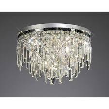 diyas il30251 maddison ceiling round 6 light polished chrome crystal