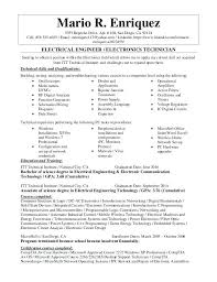 Biomedical Technician Resume Sample Best Of Electrical Engineering Technician Resume Sample Sample Electrical