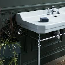 burlington edwardian 1200m basin chrome wash stand
