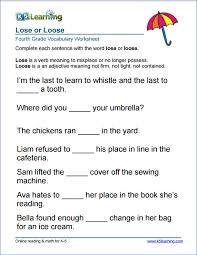 4Th Grade Grammar Worksheets Free Worksheets for all   Download ...