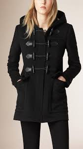 burberry fitted wool duffle coat