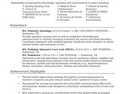 Registered Nurse Resume Template New Nicu Sample Of 11 | Mhidglobal.org