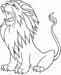 Library Lion Color Page L L L L L L L L L L