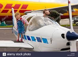 Best Light Aircraft Children Exploring A Light Aircraft At Best Of British Show