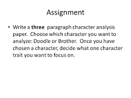 character analysis essay ppt video online  character analysis essay 2 assignment
