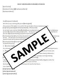 Hr Advance | Probation Terminated Letter