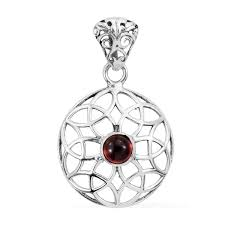 artisan crafted mozambique garnet sterling silver pendant without chain tgw 0 80 cts pendants jewelry lc