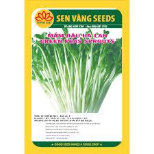03 gói Hạt giống rau mầm đậu Hà lan (gói 50g) giống khỏe mầm tốt VTS46 -  Hạt giống Thương hiệu Sen Vàng Seeds