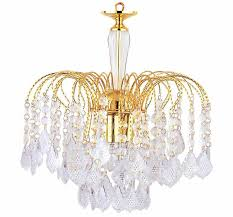 3 light polish brass finish acrylic drops chandelier ceiling light 1 of 1free see more