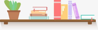 bookshelf cartoon flower pot bookshelf books png and vector
