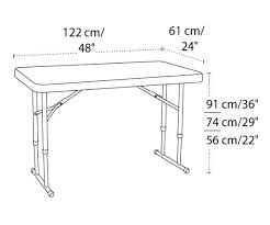 4 foot plastic table remarkable 4 foot folding table with lifetime adjule height folding table 4