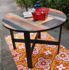 Frustrated at the 249£ price tag of the legion pallet table offered by made.com and think you can do an equally decent job yoursel… Diy Pallet Round Dining Table Kitchen Table 101 Pallets