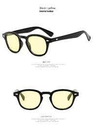 2018 الأزياء جوني ديب Lemtosh نمط جولة نظارات واضح ملون عدسة الحزب تصميم  عرض نظارات شمسية 2021 من gocan, 47.66ر.س