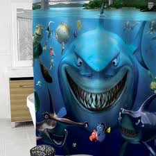 funny shower curtain. Finding Nemo Custom Shower Curtain Funny Size 36x72,48x72,60x72,66x72