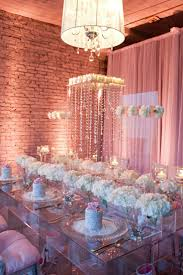 Wedding  Tablescape  Pink & Crystal Jen Antoniou Jen Antoniou Weddings  www.jenantoniouweddings.